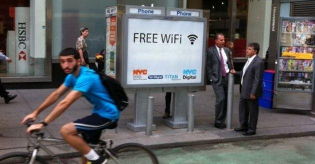 New York Turns Pay Phones Into Wi-Fi Hotspots